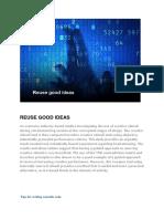REUSE GOOD IDEAS1.docx