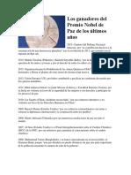 Ganadores Premio Novel de La Paz