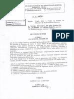 Lei Nº 1168-2012 - Cod de Posturas