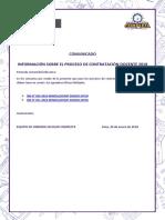 Comunicado-contratación Docente 2018