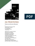 As Fronteiras Poema