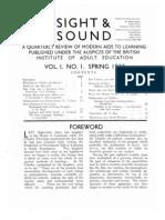 Sight & Sound Vol 1 No 1 1932