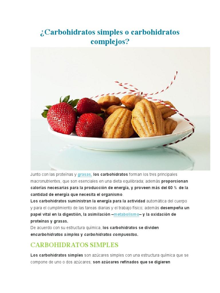 azucares simples y complejos pdf