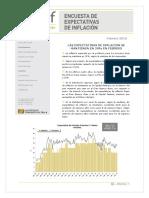 Expectativas de Inflación CIF