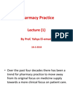 Pharmacy Practice Lec1