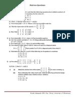 Matrix Questions