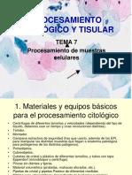 Tema 7. Procesamiento Citológico y Tisular