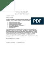 Investigación Psicologia Del Desarrollo. 8vo Grado