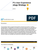 TEC104 – SAP's User Experience