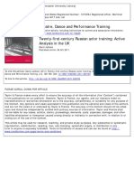 D Jackson - Twenty-first-century Russian Actor Training Active Analysis in the UK