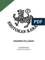 South African Shotokan Karate Syllabus (1)