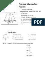 Piramida  triunghiulara regulata