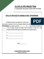 Edital de Convocçaõ Para Assembléia Geral