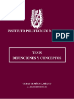 IPN Tesis Definiciones y Conceptos.