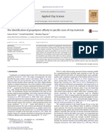 The Identification of Geopolymer Affinity in Specific Cases of Clay Materials