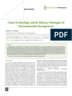 Clean Technology and Its Efficacy Strategies of Environment Management -2015