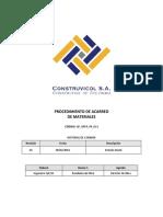 QF OPER PR 013 Procedimiento Acarreo Materiales Rev 1
