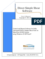 Direct Simple Shear Software Manual