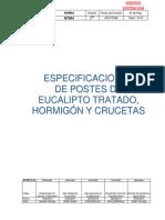 Nt004 - Especificaciones de Postes de Eucalipto Tratado, Hormigón y Crucetas