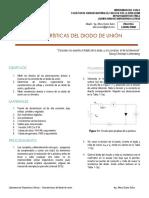 1 Laboratorio Dispositivos Activos - Características Del Diodo de Unión