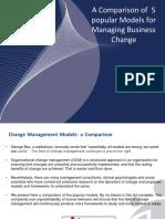Change Management Models Comparshion