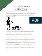 Definición Deabuso de Autoridad