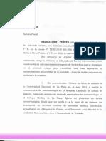 Carta de la anestesista Nélida Inés Puente