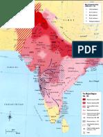 Map - India Mughals
