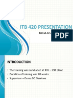 Industrial Training Presentation - 19 Sept 2016