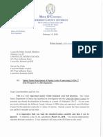 Letter to Metro Council Regarding DOJ February 19th 2018