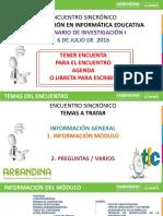 Encuentro Sincronico Sem i 6 de Julio de 2016