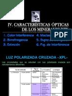 IV. Caracteristicas Opticas en Xpl