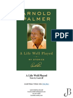 a life well played by arnold palmer notes by coach jb