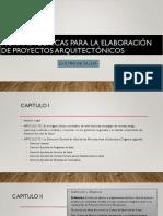 Normas Tecnicas Para La Elabboracion de Proyectos Arquitectonicos