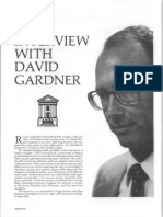 Education - Interview With David Pierpont Gardner 021-10-16