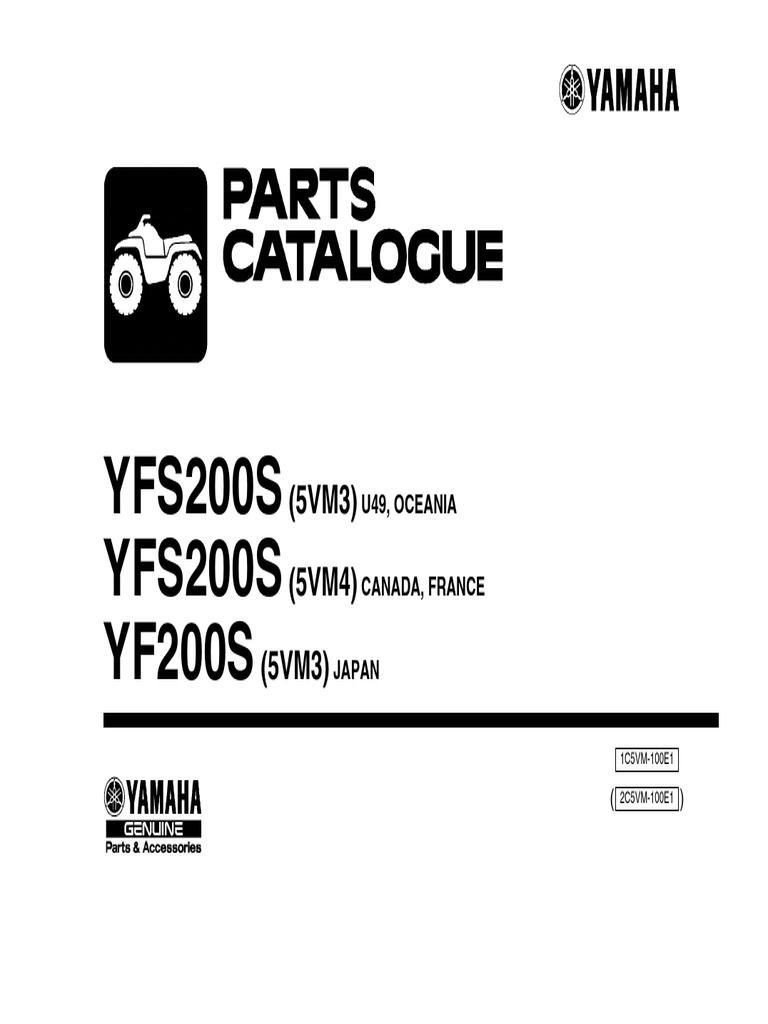 YFS200S YFS200S YF200S: (5VM3) (5VM4) (5VM3)