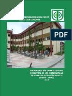 Programación de Didacticas de Las Matemáticas Pedagogia Infantil