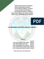 La Representacic3b3n en El Negocio Jurc3addico 1