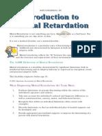 Introduction to Mental Retarda