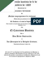 La confesión bautista de fe de Londres de 1689.pdf