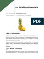 Los Beneficios de La Bromelina Para La Salud
