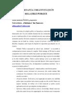 Palea - Important A Creativitatii in Relatiile Publice