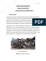 Desastres Naturales Ocurridos en 2017 en Bolivia