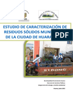 II. Estudio de Caracterizacion de Residuos Solidos Municipales