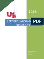 Reporte de Quimica Laboratorio General