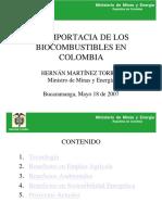 ImportanciaBiocombustibles Colombia