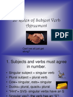 A7. 20 Rules in Subject and Verb Agreement