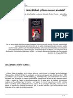 Libro Polemico Heinz Kohut Como Cura El Analisis