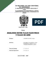 Analogía Entre Flujo Eléctrico y Flujo de Aire