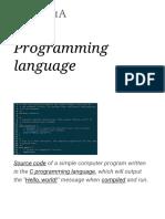 Programming Language -